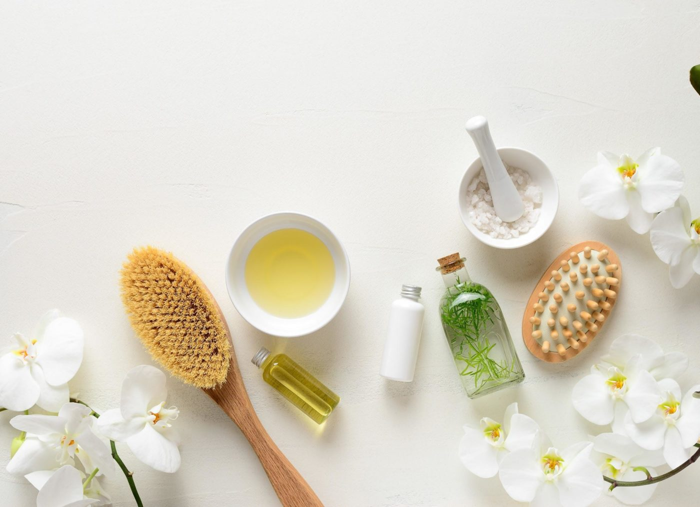 Spa products for relaxing and skin care treatment